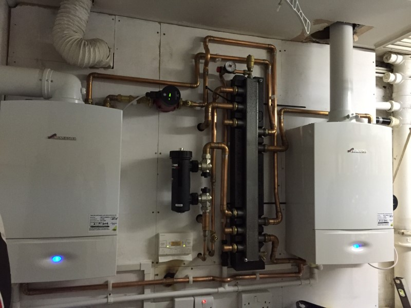 boilers installed for customer